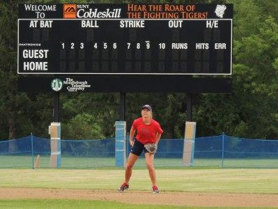 USA Baseball on field at SUNY Cobleskill