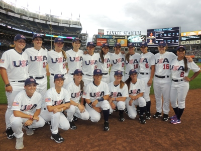 USA Baseball Women's National Team at Yankee Stadium